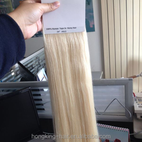 613 Blonde Curly Tape Hair Extensions Available Human Hair