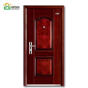 chinese heat transferred painting steel reinforced door design for sale