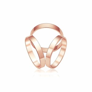 YWMT 2017 Fashion Women Jewelry Accessories Rose gold Silver Plated Luxurious Three Ring Silk Scarf Brooch