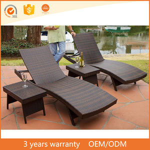 Beach Chair Rattan/Wicker Daybed Outdoor Wholesale Furniture