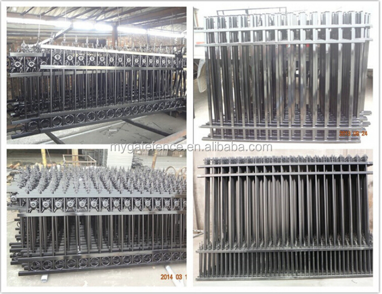 Cheap outdoor wrought iron balcony deck stair railing for Terrace railings design philippines