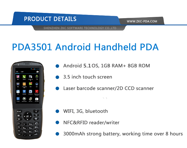 Rugged handheld with pda barcode scanner rfid nfc reader handheld terminal