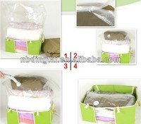 Multi purpose Cube closet organizer vacuum compressed bag for clothes,quilts,pillows and toys