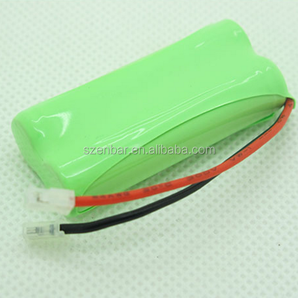 Cordless phone battery rechargeable 2.4v 1500mAh NIMH battery pack with connector