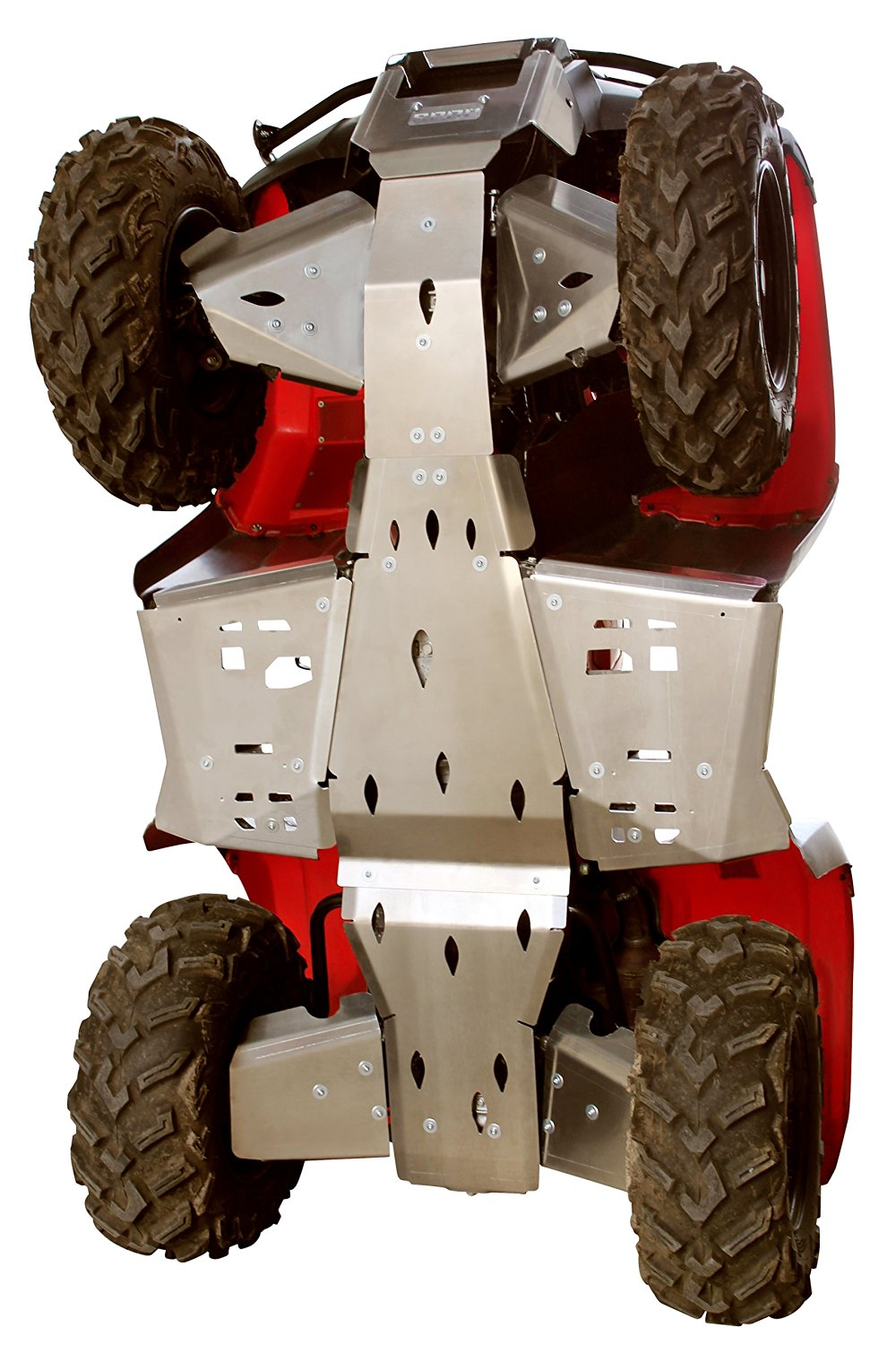 Skid plate HONDA TRX 500 IRS Rubicon/FA6, Complete set including rear and front A-Arm guards in 4mm (1 37/64 in) aircraft aluminum