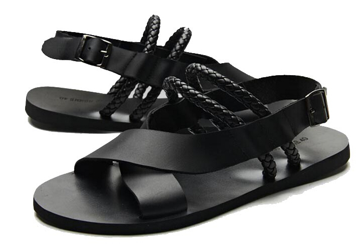 c6ce36a23 Buy Men Leather Multi Strap Ankle Flat Sandals Mens Black fits Buckle  sandals in Cheap Price on m.alibaba.com