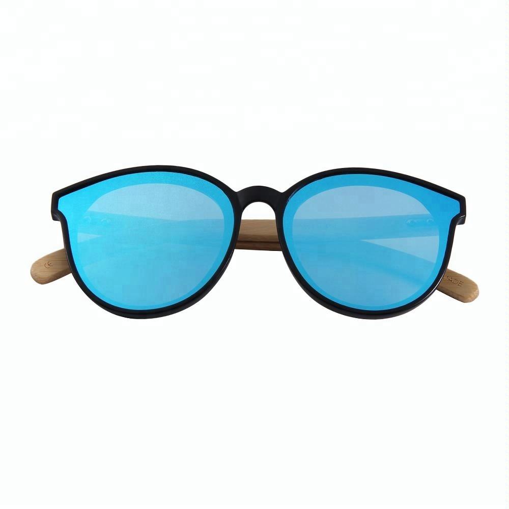 Yiwu wholesale eco-friendly one piece lens stylish bamboo sunglasses 2019