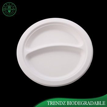 Two compartment plate wholesale ided paper dinner plates & Two Compartment Plate Wholesale Divided Paper Dinner Plates - Buy ...