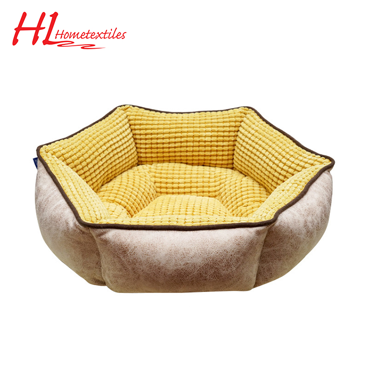 Guaranteed quality unique yellow comfortable durable pet bed