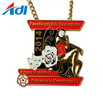 Best quality custom carnival cast iron stamped metal medallion for sales
