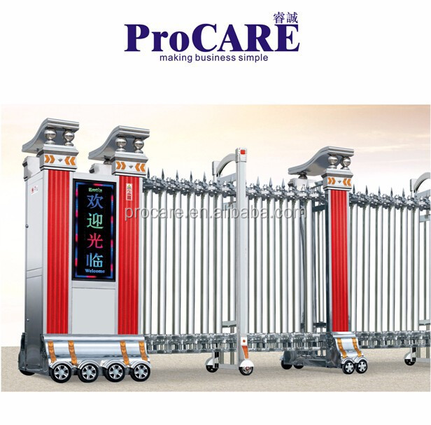 Main Gate Designs Driveway Retractable Electric Folding Gate   Buy Electric  Folding Gate,Electric Folding Gate,Electric Folding Gate Product On  Alibaba.com