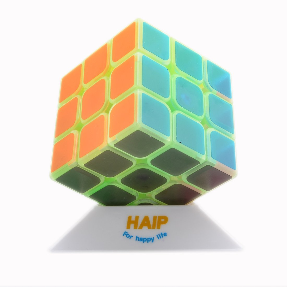 Puzzle Cube, Haip 3x3x3 Speed Cube Magic Cube (Base Holder/Bag Included) (Luminous Green)
