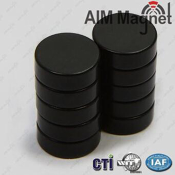 Waterproof Black Rubber Coated Round N52 Neodymium Magnets