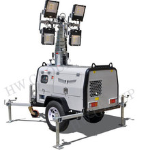 6 m albero 4x1000 W Rimorchiabile tower Light Mobile con 5kw Generatore Diesel