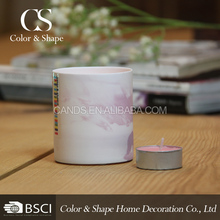 Wholesale purple color votive candle holder jar from China