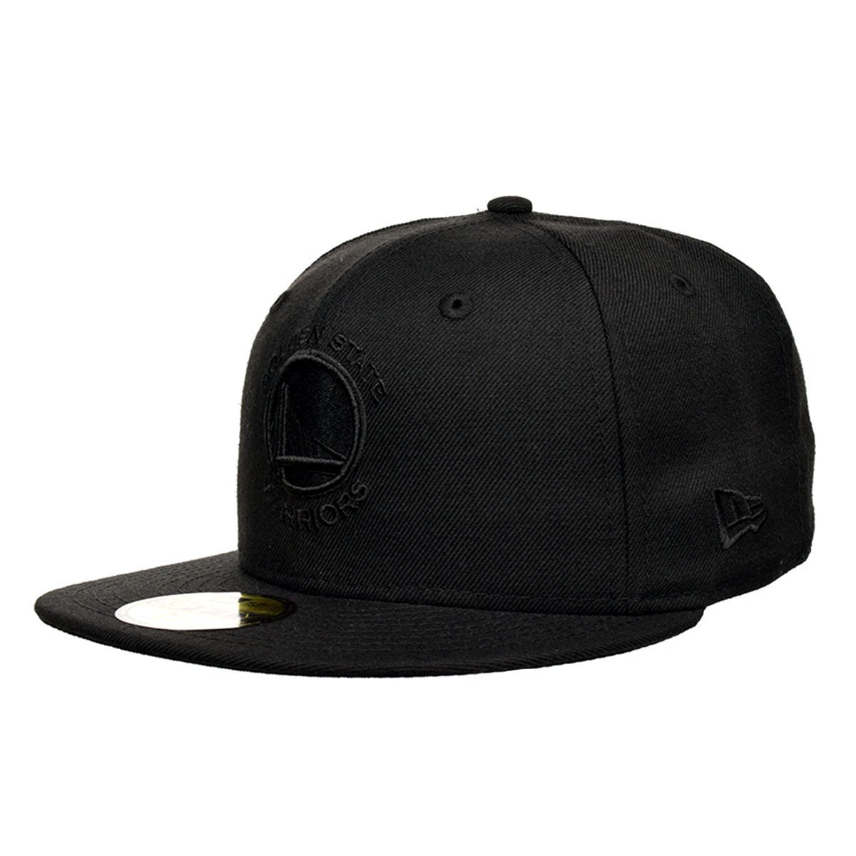 6240e8b0f2d7f Get Quotations · New Era Golden State Warriors Black On Black 59Fifty  Fitted Hat (Black)