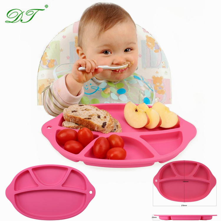 Food grade children baby magic suction cup bowl pad eat mat Mini suction cup table mat silicone baby placemat