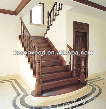 IPE Straight Solid Hardwood Staircase