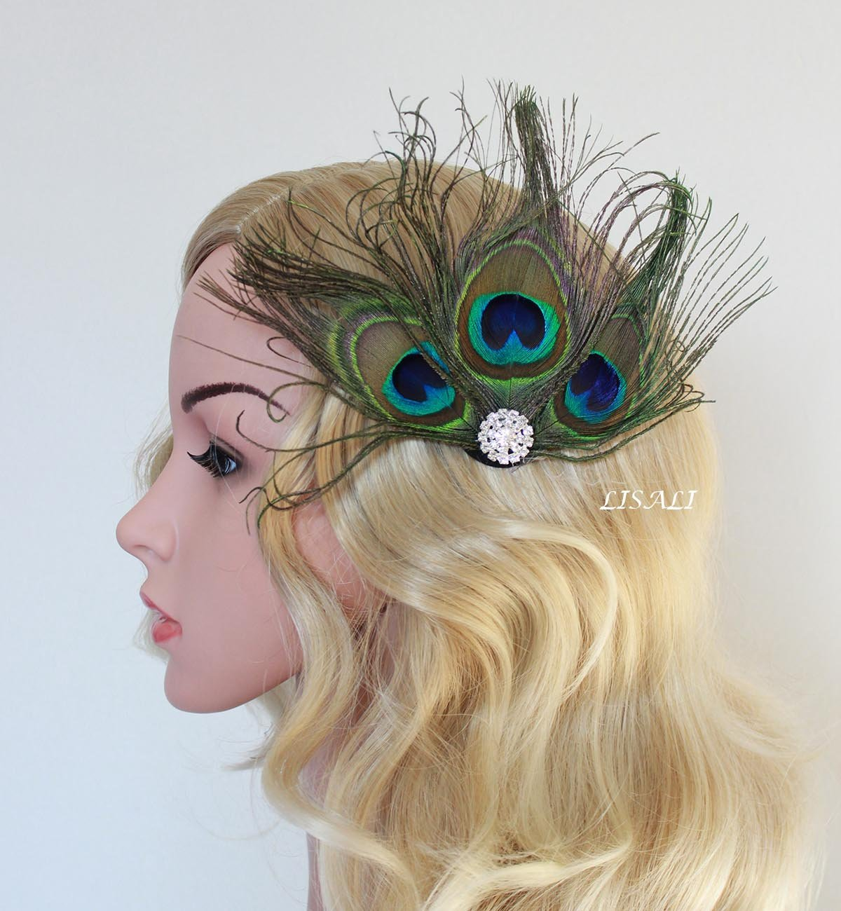 b1d47f6cae227 Get Quotations · LISALI Great Gatsby Headpiece Bridal Feather Headpiece