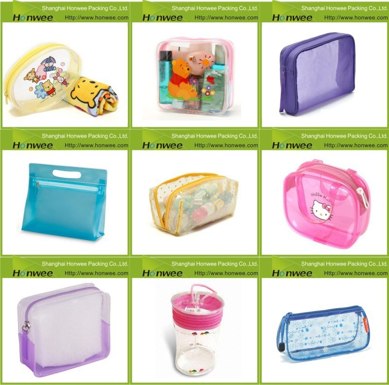 OEM/ODM companies manufacture pvc transparent plastic zipper bag, clear cosmetic pvc bag