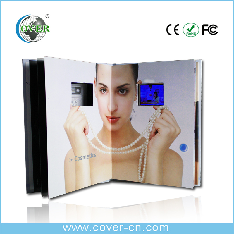 Good quality LCD business audio video card book for promotional