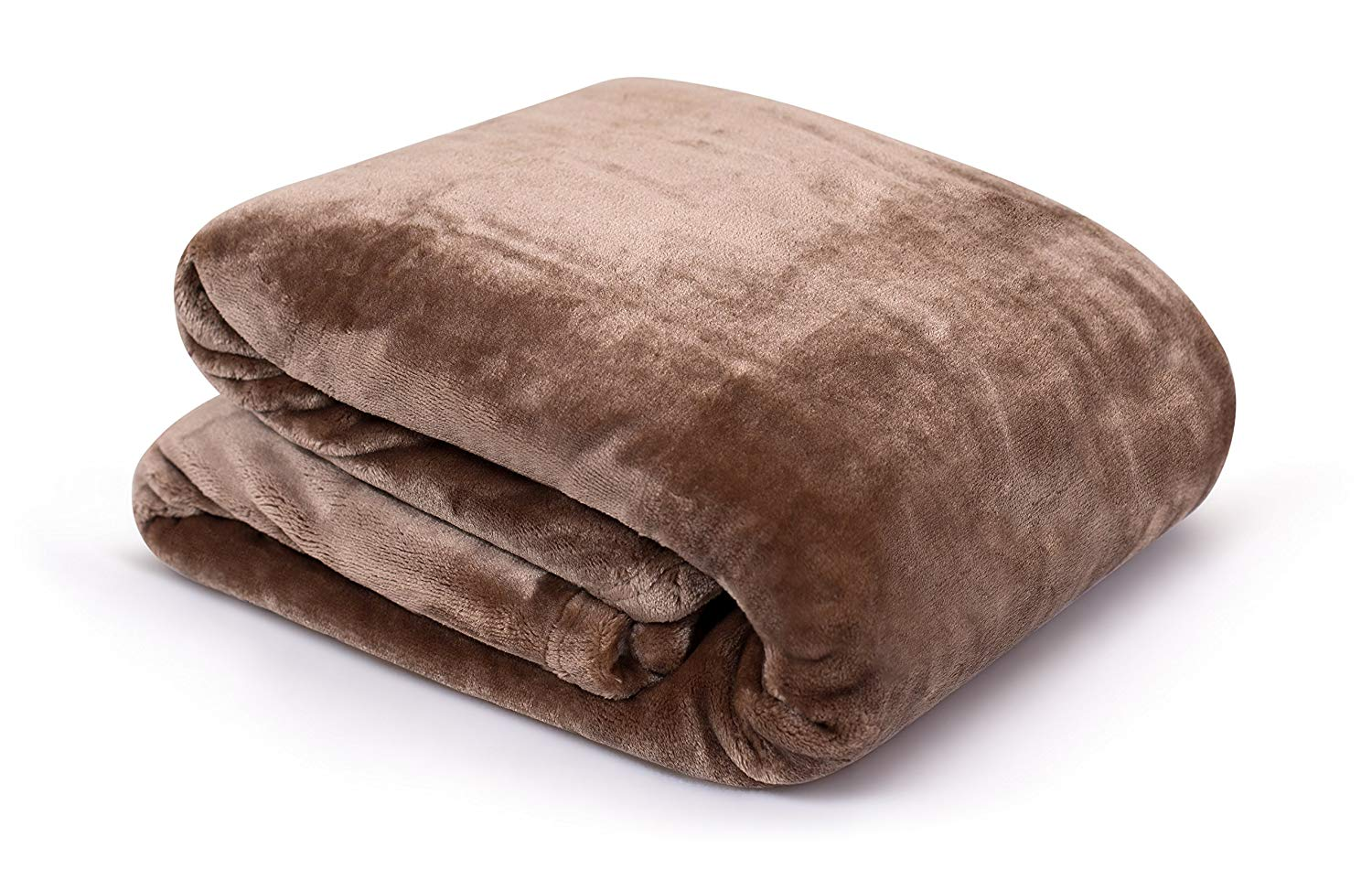 Internet's Best Plush Velvet Mink Throw Blanket | Café (Brown) | Thick Ultra Soft Couch Blanket | Warm Sofa Throw | 100% Microfiber Polyester | Easy Travel | Bed | 50 x 60