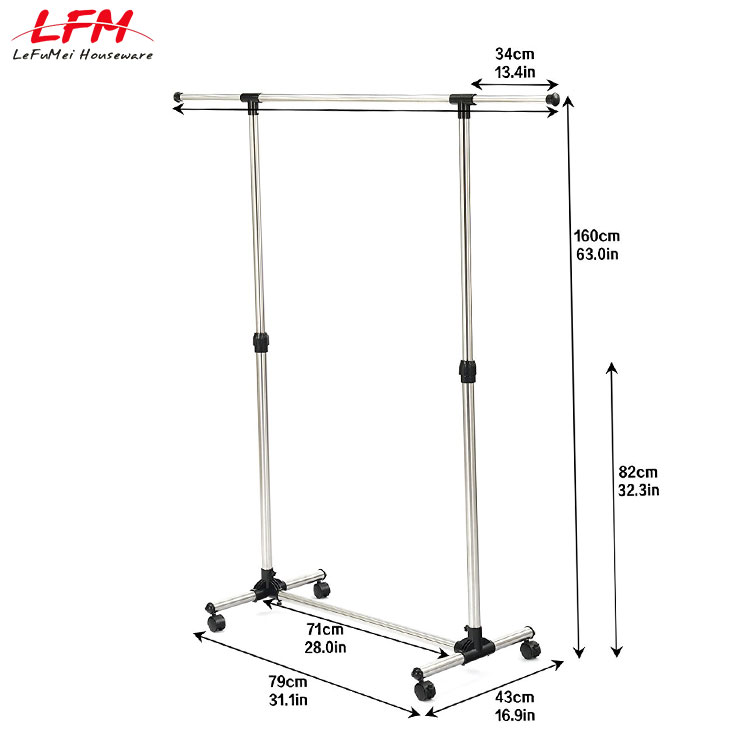 Latest single-pole dress hanger stand