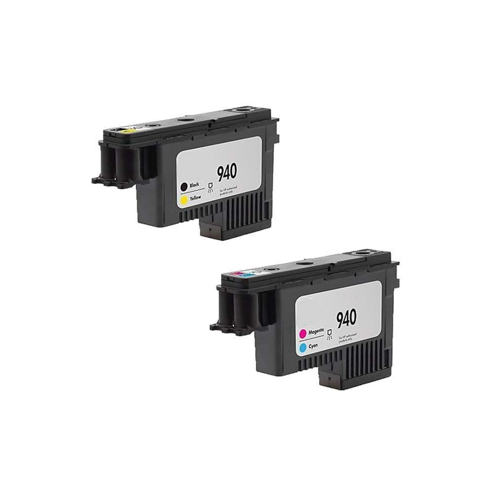 JCPINKTONER(TM) 2 Pack Remanufactured printhead FOR HP940 print head C4900A,C4901A replacement FOR HP officejet pro 8000, 8500, 8500A 8500A plus, 8500A premium