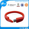 Promotional Gift Silicon Wristband Cheap Bracelet USB Flash Drive 8GB.