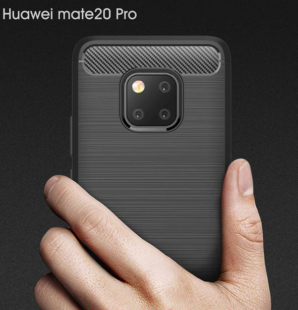For Huawei Mate 20 pro Phone case and <strong>Accessories</strong> Soft Rubber Carbon Fiber Cell Phone Case