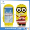 Despicable me minions 3d mobile phone silicon case for samsung galaxy note 3