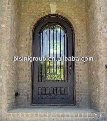 Bisini wrought iron arch single front door (BG90104)