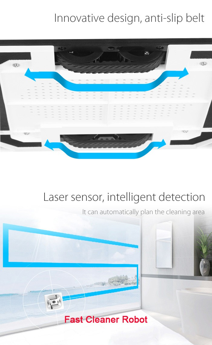 multi cleaning vacuum adsorption robot vacuum and mop window cleaner robot glass automatic cleaner - Robot Mop