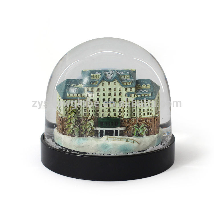 Eco-Friendly Acrylic Building Snow Globe Souvenir Wholesale