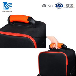 Custom logo design neoprene luggage carrier handle grip