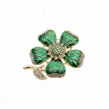 Flowers Jewelry Brooch Accessory Fashion Vintage Elegant Luxury Alloy Rhinestone Flower Corsage Enamel Brooches