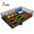 Square Indoor Trampoline With Bounce Board
