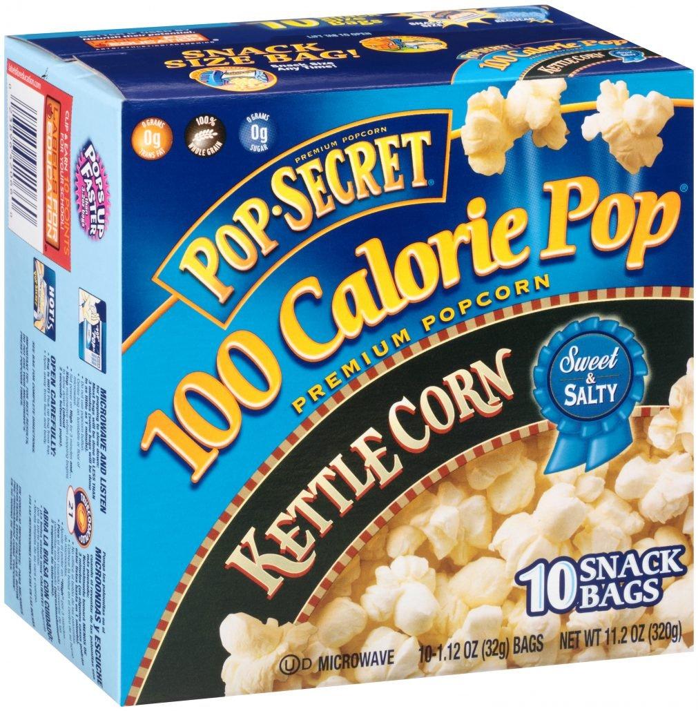 Pop Secret Snack Size 100 Calorie Kettle Microwavable Popcorn, 10 Count
