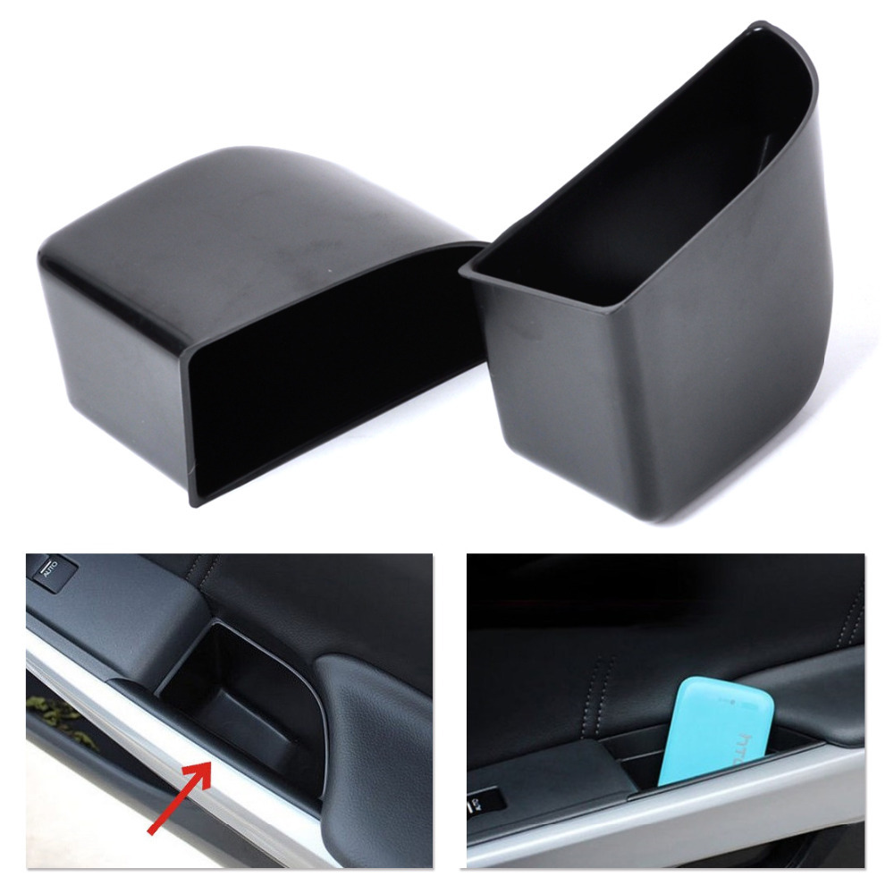 Get Quotations · New 2Pcs Black Rear Door Armrest Secondary Storage Box  Container Holder For Honda Accord 2008-