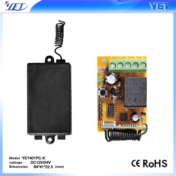 Superheterodyne RF transmitter & receiver 1 channel&relay remote control YET401pc-X
