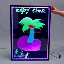 LED electrical panel board hand writing board with colourful Highlighter