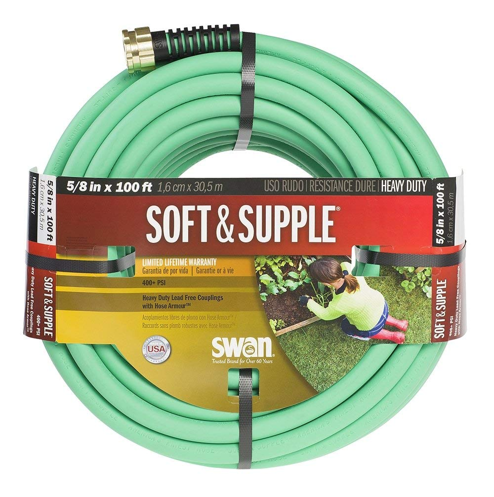 "Swan Products Soft & Supple Rubber 0.63"" Garden Hose Size: 0.63"" H x 1200"" W x 0.63"" D"