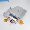 Blind letterpress printing cosmetic paper box customized silver paper box
