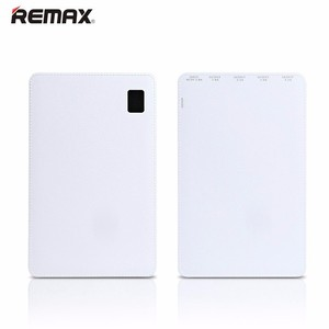 remax 30000mAh large capacity super thin safe polymer 4 USB power bank with LED display for iPhone for iPad