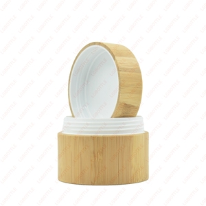 Natural bamboo jar cosmetic cosmetic jar wood with pp gasket