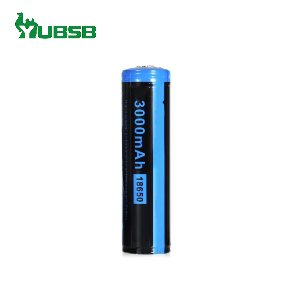 Rechargeable lithium ion battery cell 18650 3.7v 3000mah li ion battery with PCM