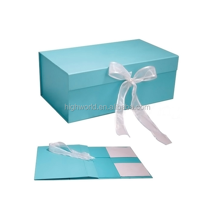 Fancy and Luxury Flat Folded Dressing Packing Magnetic Gift Box
