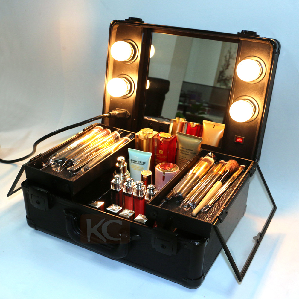 Lighting Rolling Makeup Case With Light Mirror Buy