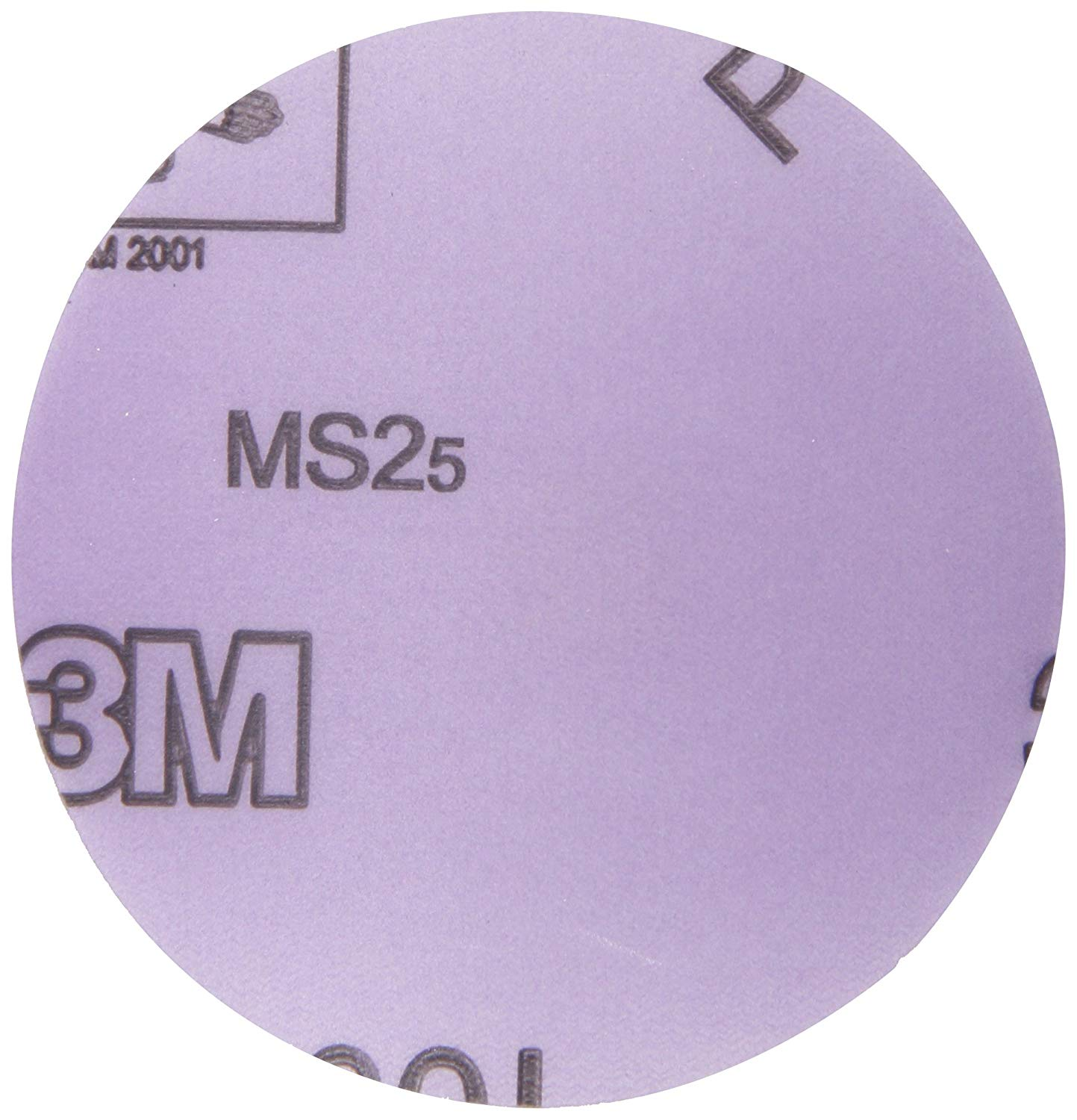 "3M Hookit Film Disc 360L, Hook and Loop Attachment, Aluminum Oxide, 3"" Diameter, P600 Grit (Pack of 50)"