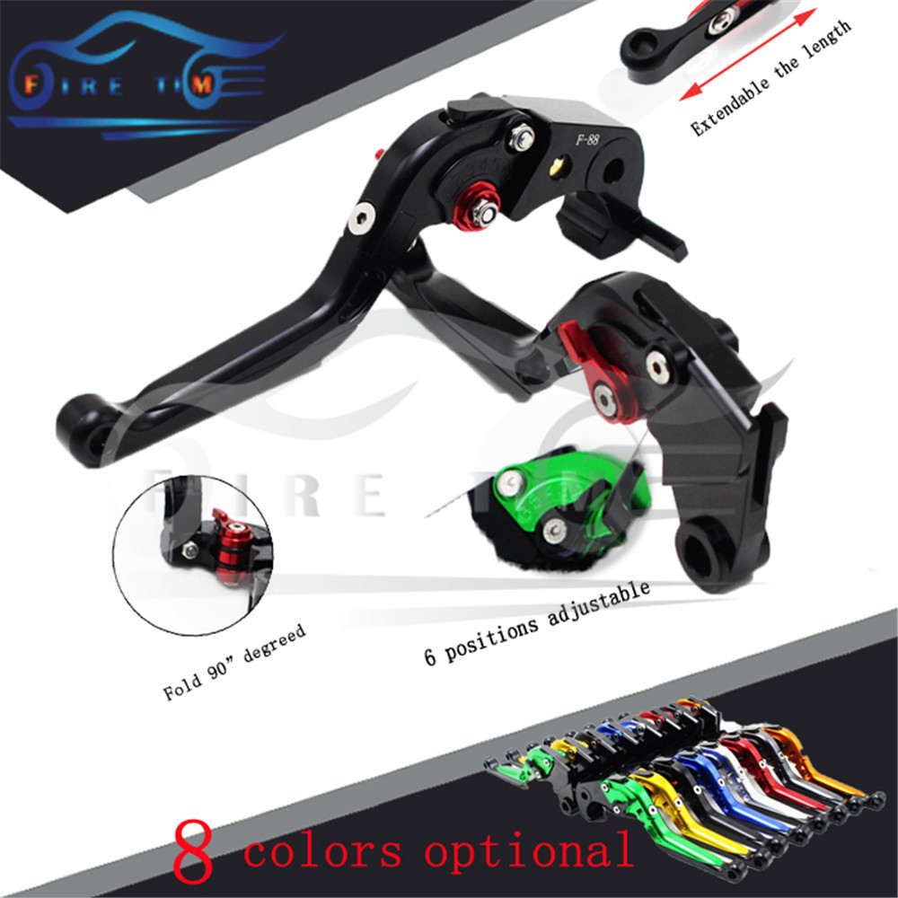 adjustable&foldable&extendable motorcycle brake clutch levers black CNC brake clutch lever FOR DUCATI 1198 S/R 2009 2010 2011